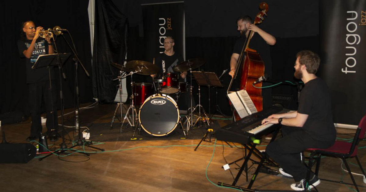 Nick MacLean Quartet ft. Brownman Ali live at Fougou Jazz, Exeter Phoenix